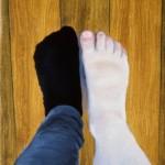 'De zwarte sok', olieverf op linnen 24x30 cm